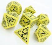 Yellow & Black Elven Dice Set